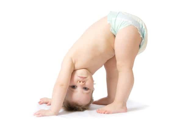 Baby girl in nappy